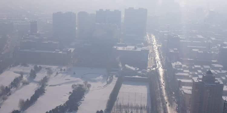 Harbin. Smog. Fot. Fredrik Rubensson