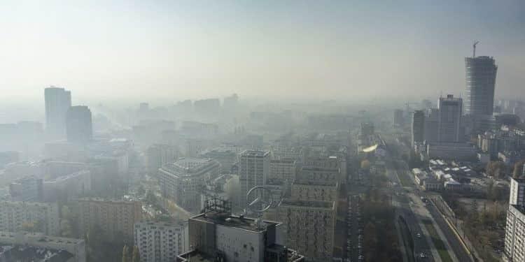 Warszawa smog. Fot. Radek Kołakowski
