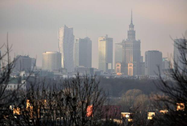 Warszawa smog. Fot. Greenpeace Polska.