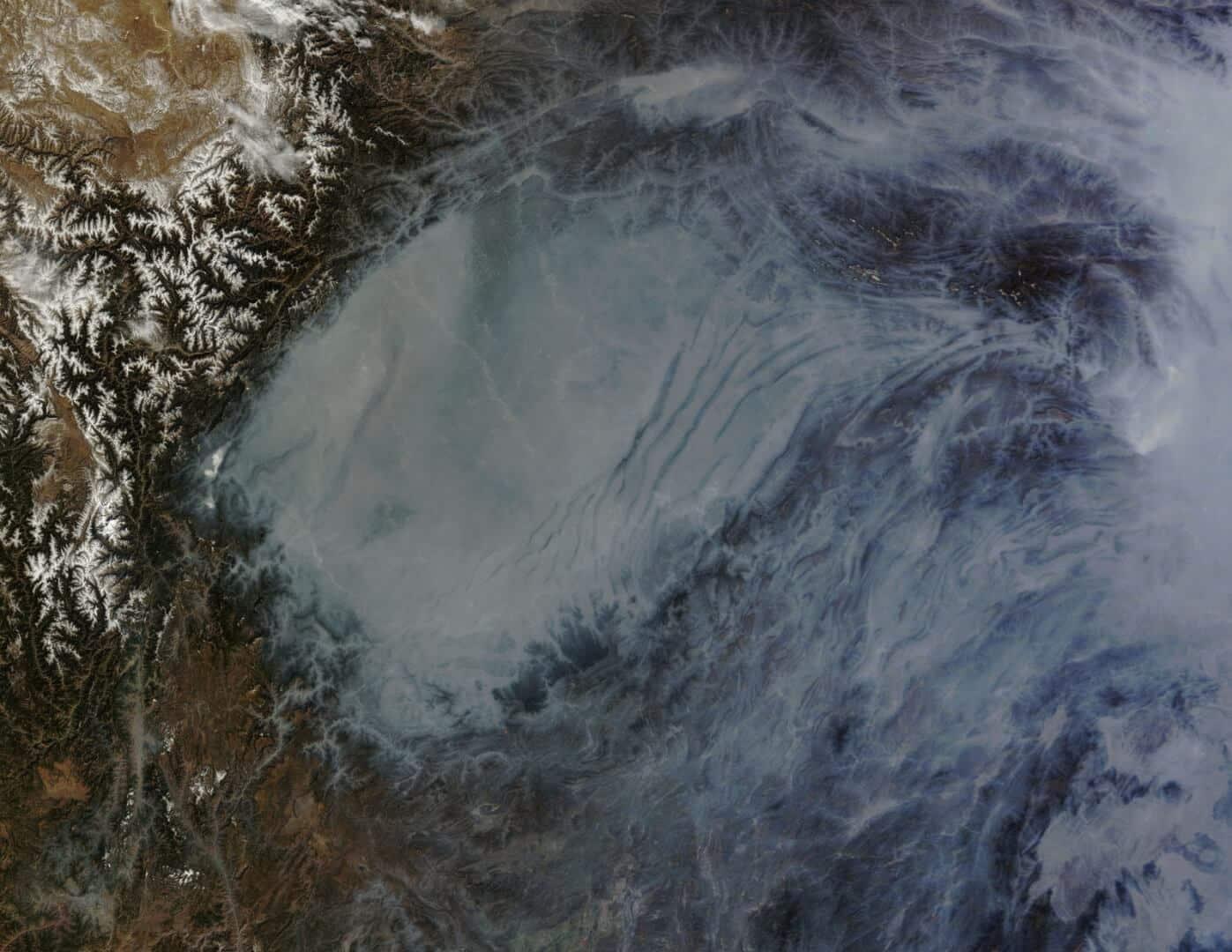 Chiny Smog z kosmosu. NASA Goddard Space Flight Center
