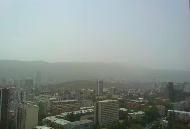 Tbilisi. Smog. Fot. Giorgi Zhvania