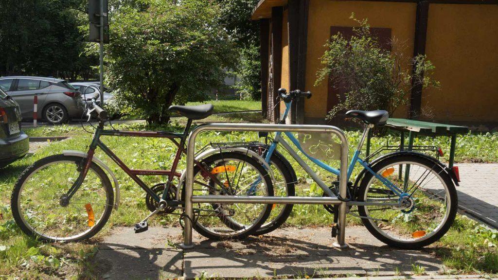 Stojaki na rowery. Kraków.