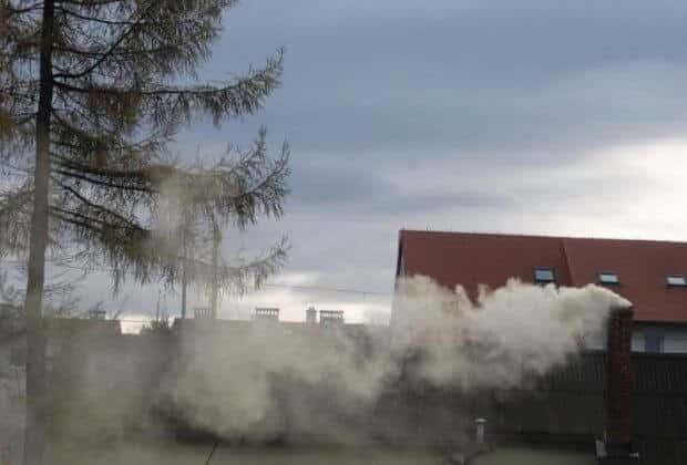 Wadowice. Smog. Fot. Smogowa Mapa Polski.