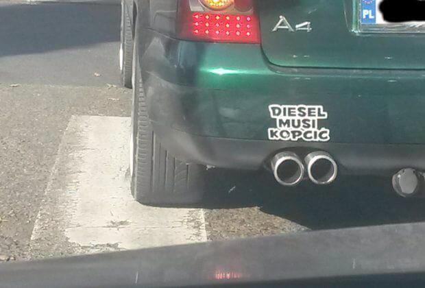 Diesel musi dymić.