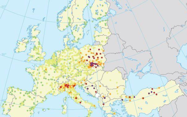 Zanieczyszczenie powietrza Polska Europa