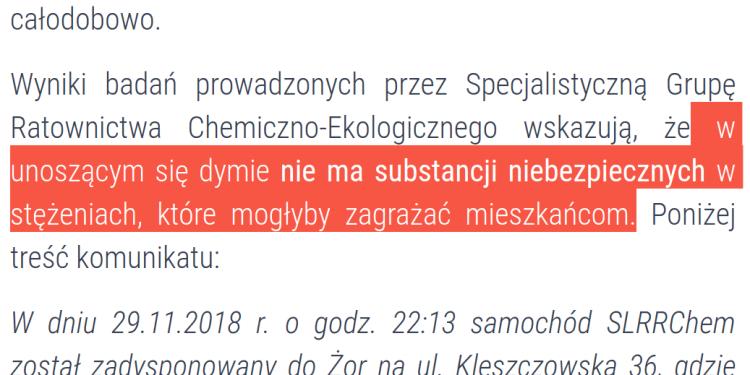 Pożar składowiska w Żorach.