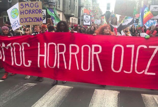 Marsz dla Klimatu. Fot. Małgorzata Małochleb/Twiiter