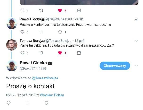 Paweł Ciećko. Główny Inspektor Ochrony Środowiska.