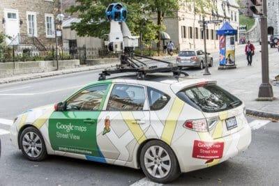 samochód google street view mapa jakosci powietrza londyn