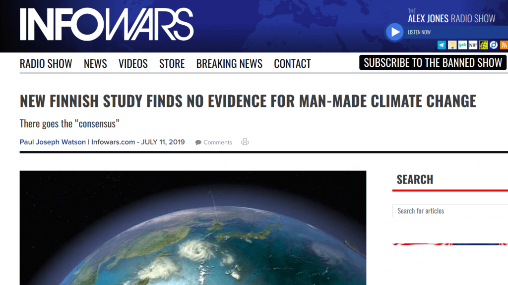 InfoWars Zmiana Klimatu