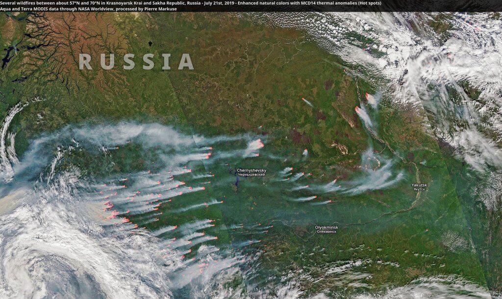 21 lipca. Kraj Krasnojarski i Jakucja. Pierre Markuse, licencja CC 2.0