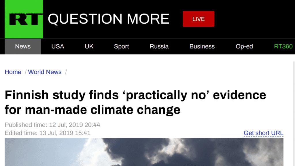 Russia Today Zmiana Klimatu