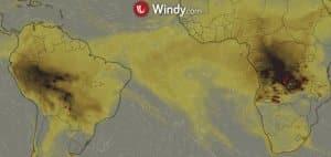 Południowa Afryka w ogniu. Nie tylko Amazonia i Arktyka płoną windy pożar pożary w afryce