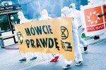 Przed siedzibą Polsatu protestowano przeciw kopalniom węgla. Spółki łączy współwłaściciel