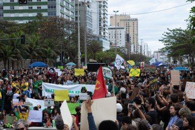Amazonia Pożary Demonstracje