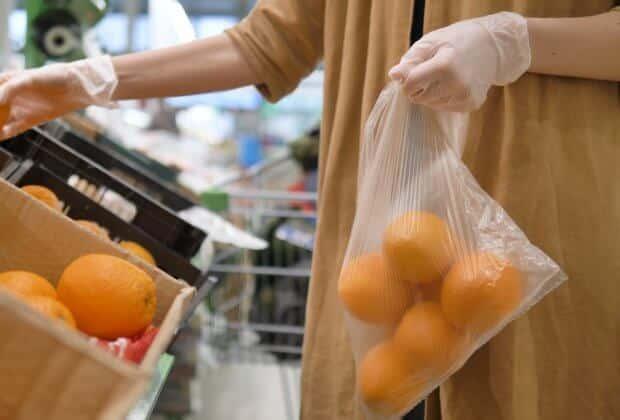 plastikowe torby koronawirus