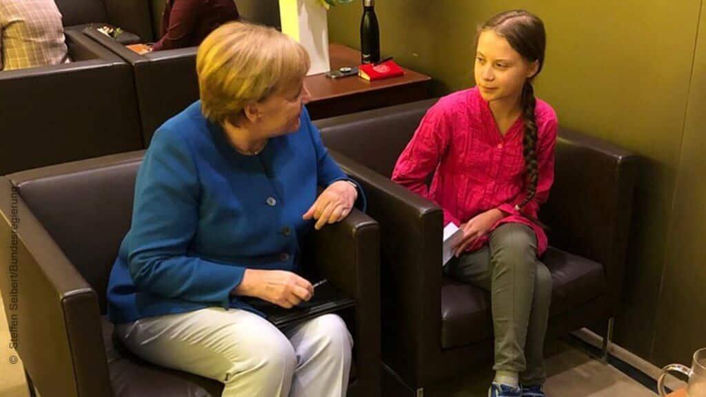 Angela Merkel Greta Thunberg
