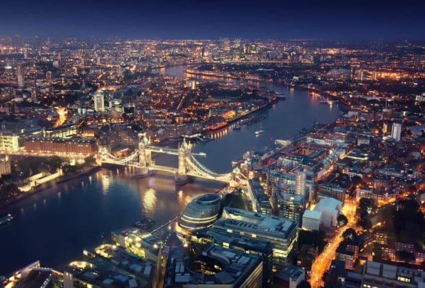 Zanieczyszczenie światłem UK