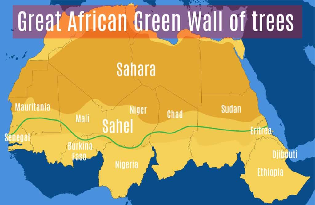 Wielki Zielony Mur. Planowany przebieg. Źródło: Shutterstock.