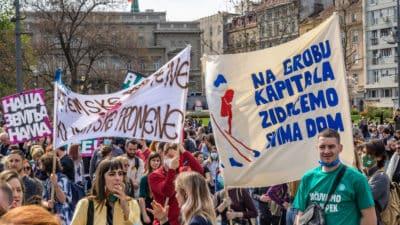 protest w serbii