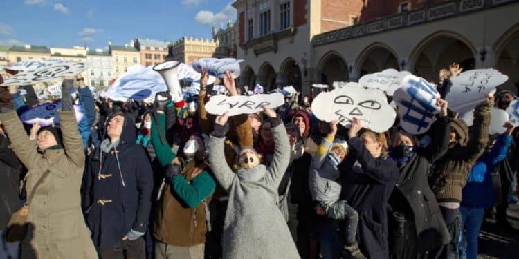 Protest smog kraków fot. Tomasz Wiech