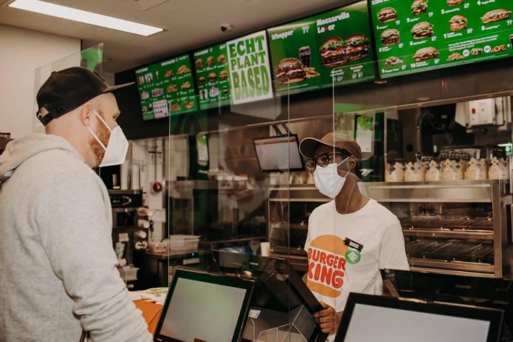 Wegetariański Burger King.