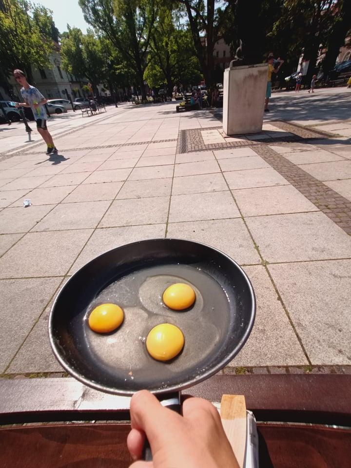 Krzeszowice Smażenie jajecznicy rewitalizacja