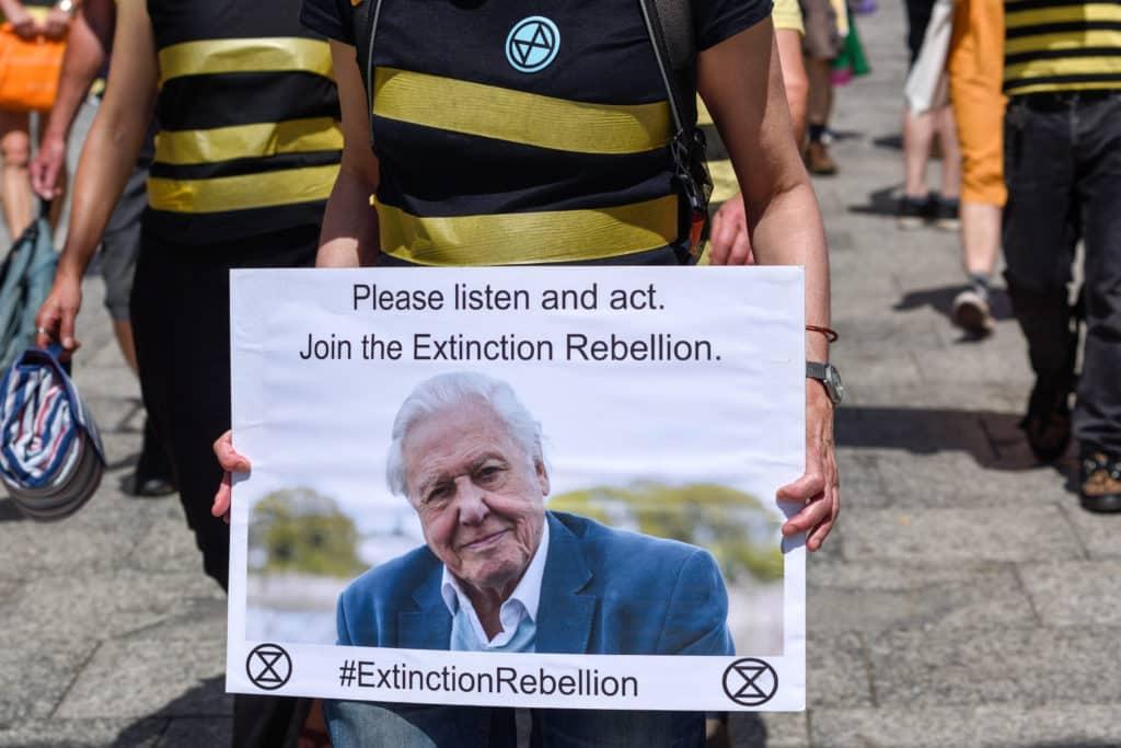 Brytyjski przyrodnik jest ważną postacią dla ruchów takich jak Extinction Rebellion. Fot. Ian Francis/Shutterstock.