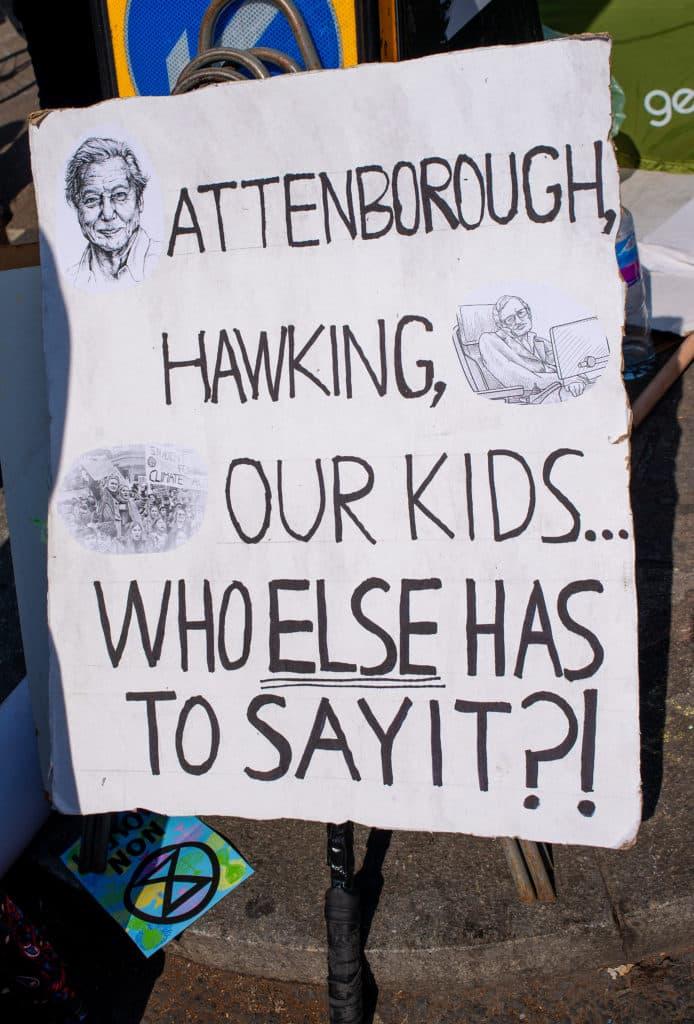 David Attenborough jest ważną postacią dla ruchów takich jak Extinction Rebellion. Fot. John Gomez/Shutterstock.