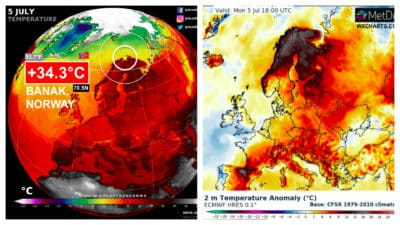 Laponia Susze Rekord temperatury