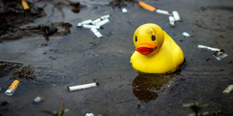 Palenie śmieci kiepy Francja kary