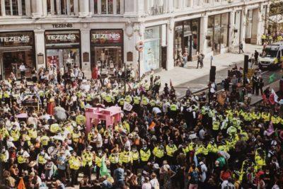 protest extinction rebellion londyn